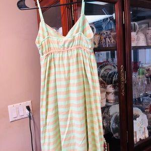 Old Navy Mint Colored & Light Tan Dress SZ Small